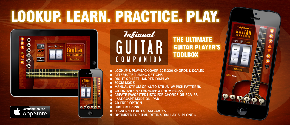 Infinaut Guitar Companion for iPad & iPhone