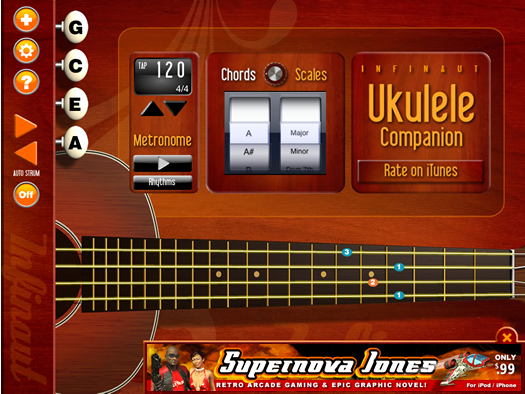 Ukulele Companion from Infinaut